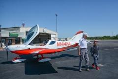 Julius-and-pilot-Jim-Fisher-1